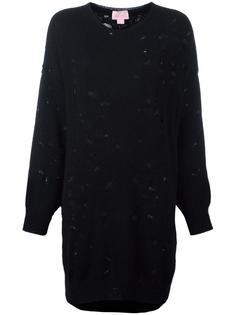 трикотажное платье с потертой отделкой Giamba