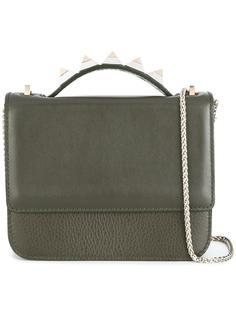 studded handle satchel bag Salar