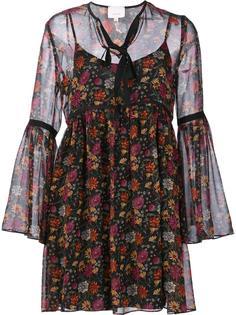 floral print sheer dress Cinq A Sept