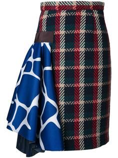 checked skirt  Kolor