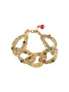 браслет с филигранными звеньями Chanel Vintage