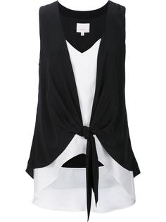 layered front tied blouse Cinq A Sept