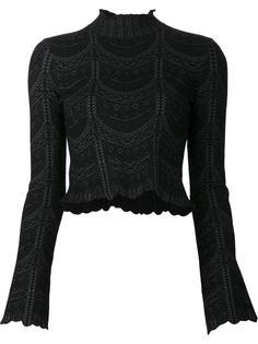 high neck cropped blouse Cinq A Sept