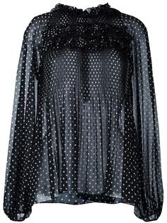 прозрачная блузка с узором в горох Giamba