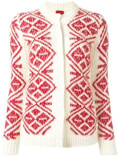 geometric pattern cardigan Moncler Gamme Rouge