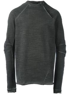 zipped neck sweatshirt  Andrea Ya'aqov