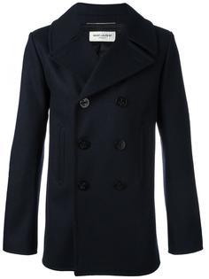 классическое пальто бушлат Saint Laurent