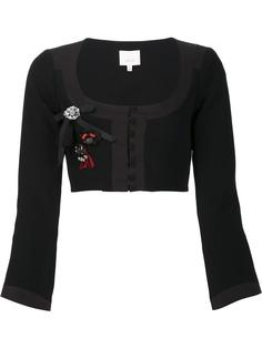 scoop neck cropped jacket Cinq A Sept