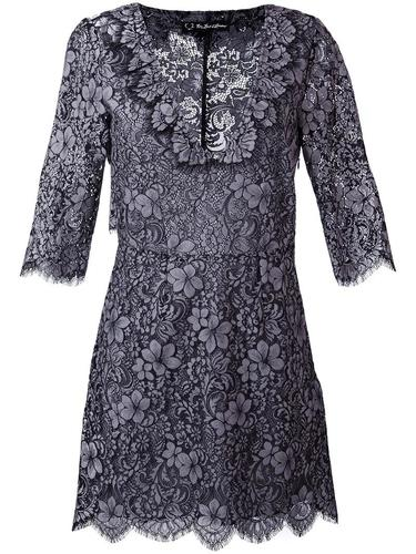 three-quarters sleeve V-neck dress For Love And Lemons