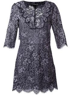 three-quarters sleeve V-neck dress For Love And Lemons