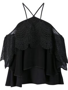 off shoulders lace blouse Cinq A Sept