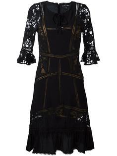 sheer detailing flared dress For Love And Lemons