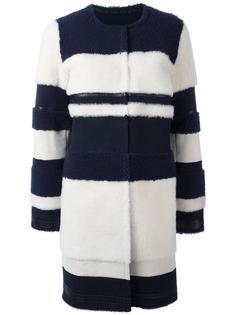 пальто миди без воротника  Yves Salomon