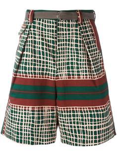 шорты с узором Sacai