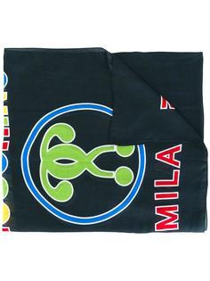 шарф с принтом-логотипом Moschino