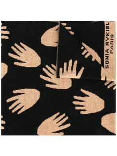 шарф с принтом рук  Sonia Rykiel