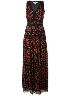 платье с узором и кружевом Diane Von Furstenberg