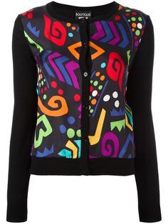 multicolour shape motif cardigan Boutique Moschino