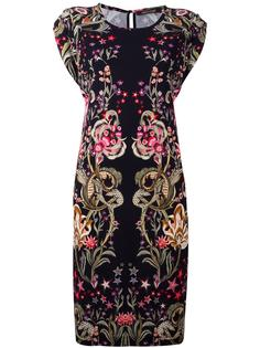 floral printed shortsleeved dress Roberto Cavalli