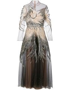 декорированное вечернее платье из тюля Valentino