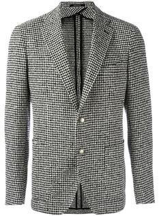 houndstooth pattern blazer Tagliatore