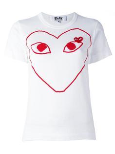 футболка с принтом логотипа   Comme Des Garçons Play