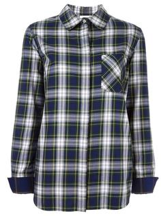 checked chest pocket shirt Courrèges