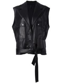 объемная куртка без рукавов Helmut Lang