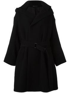 пальто с капюшоном Yohji Yamamoto