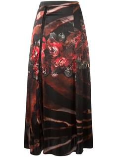 floral print draped skirt Wunderkind