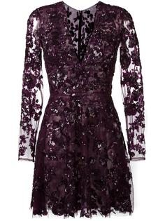 embellished floral lace mini dress Zuhair Murad