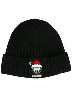 шапка в рубчик Moschino