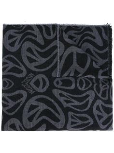 шарф с принтом пацифика Moschino