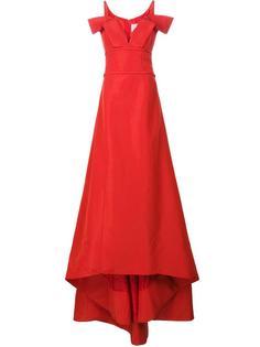 платье 'Faille Ball Off-The-Shoulder V-neck' Carolina Herrera