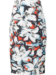 floral print pencil skirt Milly
