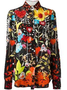 bead embroidered floral shirt Piccione.Piccione