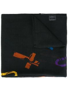 шарф с принтом крестов Moschino