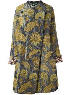 жаккардовое объемное пальто Ermanno Gallamini
