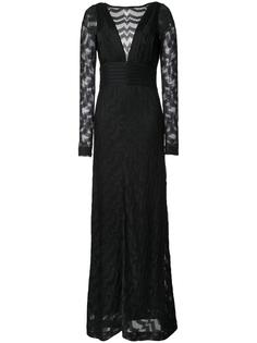 вечернее платье с V-образным вырезом на спине Missoni