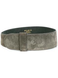 wide suede belt Alaïa Vintage