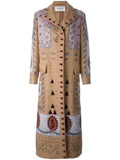 пальто с пайетками  Valentino