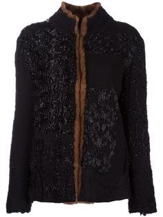 fur trim jacket  By Walid