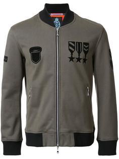 medal print bomber jacket Guild Prime