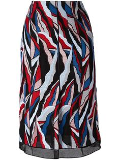 abstract print straight skirt Emilio Pucci