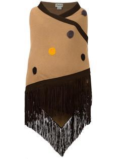 шарф с вышивкой и бахромой Babjades