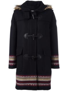 пальто с капюшоном Red Valentino