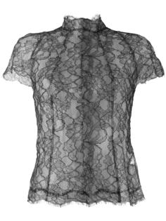 floral lace panelled blouse Wunderkind