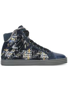 woven lace-up hi-tops Hogan Rebel