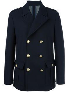 двубортное короткое пальто Pierre Balmain