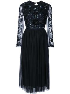sequined lace overlay dress Needle & Thread